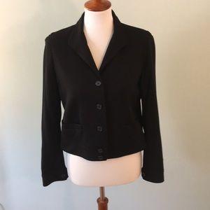10P Black Lauren Ralph Lauren Knit Blazer